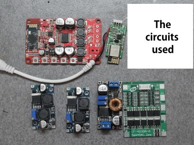 The circuits used in this project