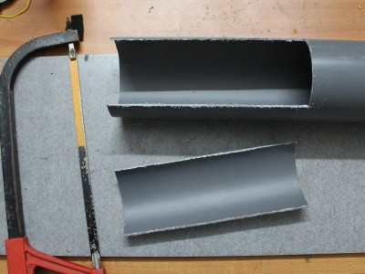 Making the speaker grill from PVC pipe section