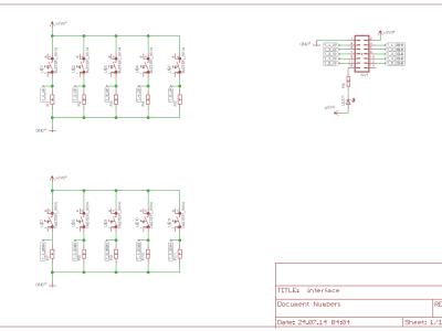 Schaltplan für das Unterputz-Interface