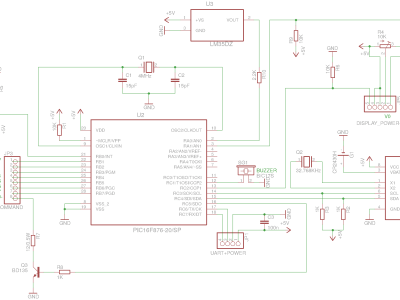 Main board schematics