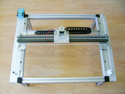 Y-axis stepper motor and belt added