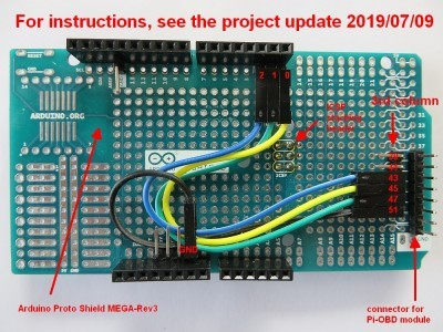 Arduino Proto Shield MEGA-Rev3 Headers and Wiring