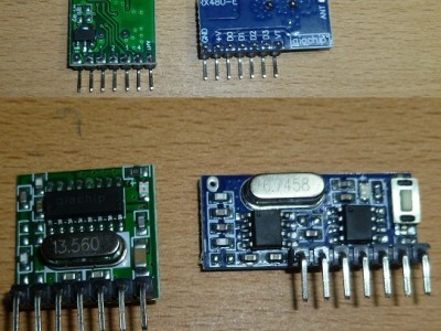 The 433MHz modules I used