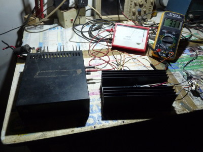 Testing the electronic load with a 12 V / 7 A power supply