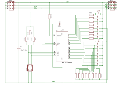 I2C interface with PCA9555 Port-Expander