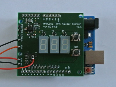 Top view of the arduino shield