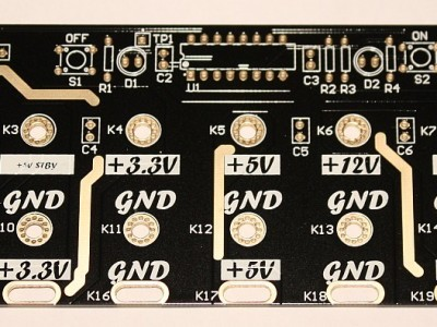 blank PCB - Gold plated for extra current capacity