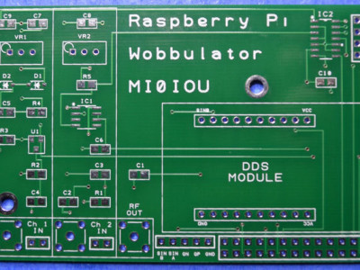 The Raspberry Pi Wobbulator PCB