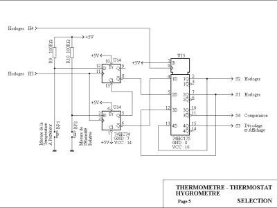 Les circuits de sélection ( Température Ambiante/Extérieure - Hygrométrie )