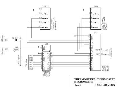 L'étage de Comparaison ( Thermomètre / Thermostat )