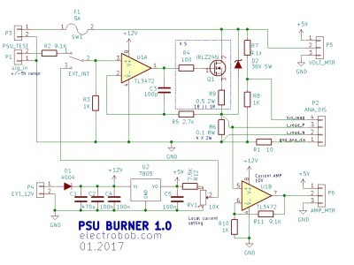 Schematic PSU burner