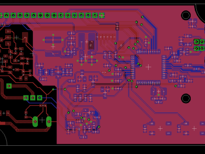 composite view of both side of PCB with new clearance