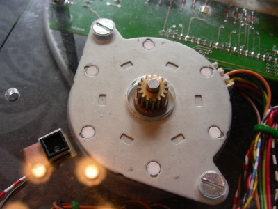 Stepper motor and sensor