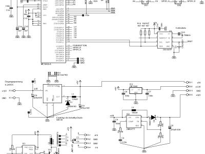 Der ATmega und die Module der Stromversorgung