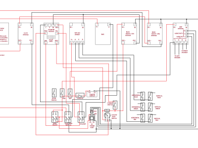 The wiring layout of the project