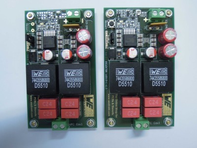 Transmittter and receiver another top view (2 x PCB 160119-1 v1.0)