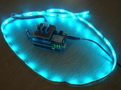 Arduino Uno + Elektor WiFi Shield + LED driver