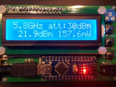 RF Power Meter with 1MHz-10GHz bandwidth and 55dB dynamic range