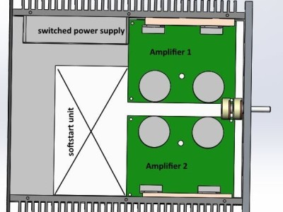 Softstart unit for amplifier