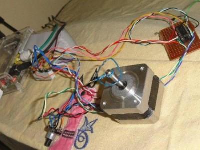 Raspbery Pi - Control a stepper motor with a rotary encoder