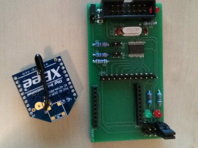 Extension for XBee and 8 additional I/Os for Elektor Embedded Linux Board (Gnublin)