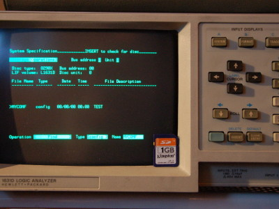 HPDisk - An SD-based disk emulator for GPIB instruments and computers