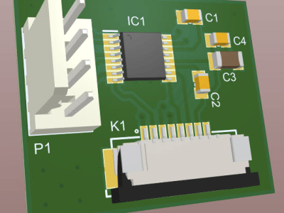 Easy to build Dual H-Bridge PWM controlled DC motor driver