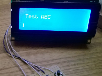 I2C (TWI) LCD Adapter with Keyboard with SMD