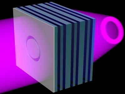 3D-Projektion durch flache Linse
