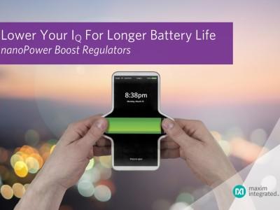 nanoPower-Boostregler verhilft Batterien zu einem langen Leben