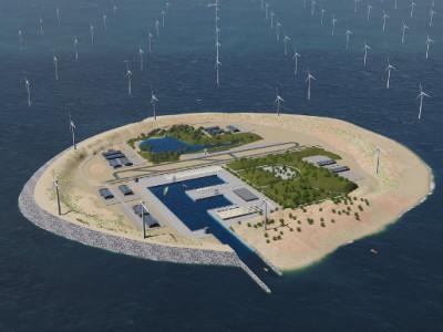 Künstliche Inseln optimieren Offshore-Windenergie