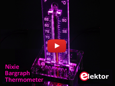 IN-9 Nixie Bargraph Thermometer mit farbig beleuchteter Skala