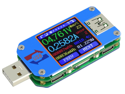 Review: USB-Tester UM25C mit OLED-Farb-Display + Bluetooth