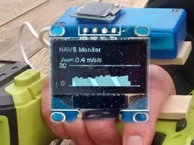 Tragbarer Vibrationsmonitor im Selbstbau