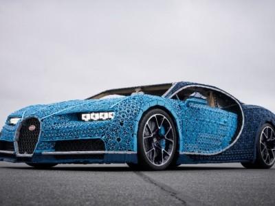 Bugatti Chiron mit Legosteinen   nachgebaut