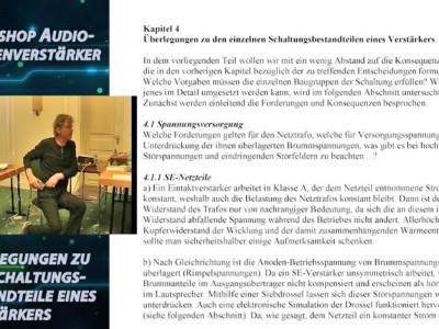 """Gratis für Elektor-Leser: Videokurs """"Audio-Röhrenverstärker"""" Teil 4"""