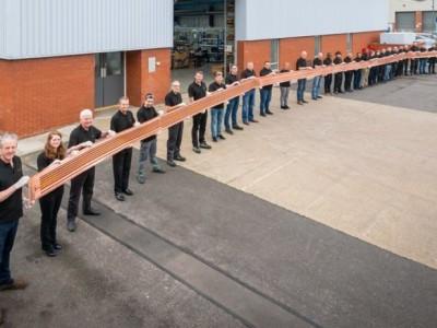Die längste Platine der Welt ist 26 Meter lang