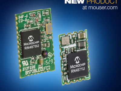 Mouser Offers Microchip's Easy-to-Use RN4870/RN4871  Next-Gen BLE Solutions