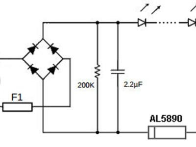 Zweipolige Stromquelle zur LED-Versorgung bis 400 V