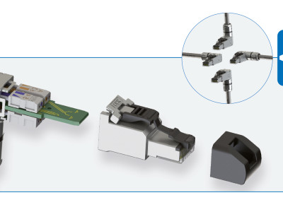 Um die Ecke gedacht – neuer MFP8 Winkelsteckverbinder von Telegärtner