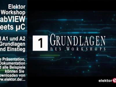 """Gratis für Elektor-Leser: Videokurs """"LabVIEW"""" (Teil 1)"""
