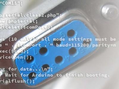 Darstellung serieller Daten auf einer Webseite – mit PHP oder Python