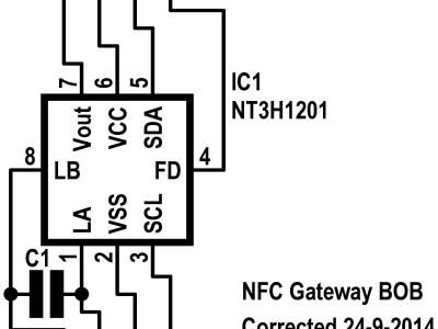Schematic of BOB for NFC Gateway (140177-2 v1.0)