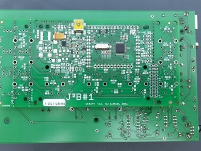 V1.0 back side with the J2B board