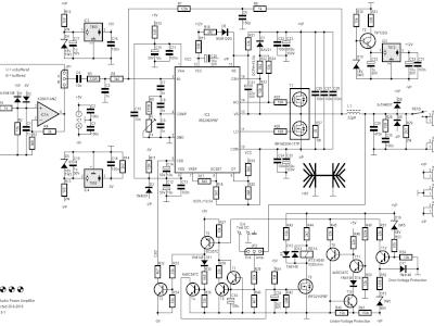Schematic of 200W Class-D Audio Power Amplifier 150115-1 v2.1