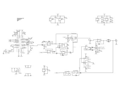Schematic of analog section of the DDS function generator (150210-1 v1.1)