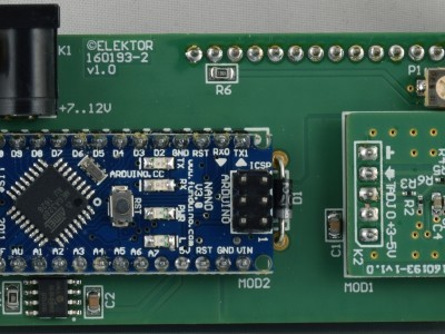View on modules of prototype of RF Power Meter (160193 v1.0)