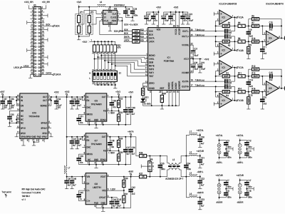 Schematic of Audio DAC for RPi (160198-1 v1.1)