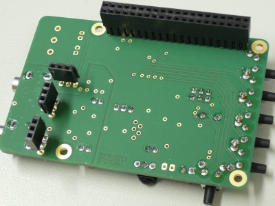 Bottom view Volume Control (160321-1 v1.0) for RPi Audio DAC (160198) - RPi version