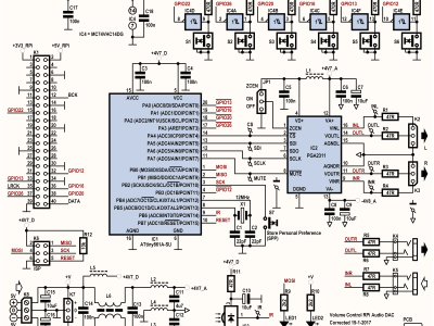 Schematic of the Volume Control (160321 v1.1)) for RPi Audio DAC (160198)